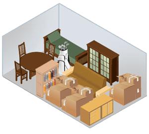10x15 storage Space